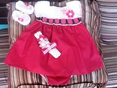 Vestido de bebe a crochet por tejiditos Avliss
