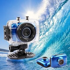 Want to capture some of those craziest moments you spend doing adventure sports in water? With this Waterproof Action Camera, you can. It's got a screen size of inch and comes with an image sensor of Mega CMOS. Cheap Cameras, Waterproof Camera, Buying Wholesale, Camcorder, Cool Gadgets, Techno, Diving, Discovery, Cool Stuff