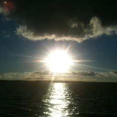 Solnedgang på Møn