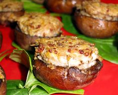 Chicken Salad Stuffed Mushrooms #Paleo #Recipe - Another soon-to-be Party Favorite! #grainfree #glutenfree
