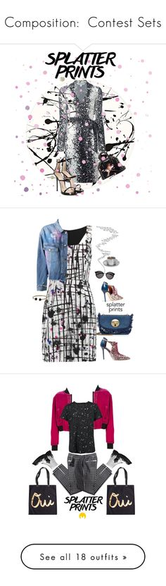 """""""Composition:  Contest Sets"""" by jzanzig ❤ liked on Polyvore featuring Lisa Perry, Diane Von Furstenberg, Giuseppe Zanotti, STELLA McCARTNEY, Casadeco, paintiton, splatterdress, Milly, Malone Souliers and MARCOBOLOGNA"""