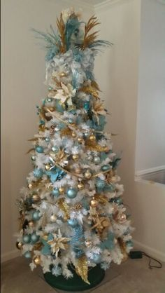 Christmas tree Blue and Gold Tree