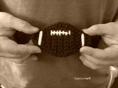 Free Crochet Pattern Football Embellishment