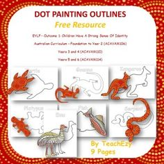 A free resource with links to lessons and outlines for Aboriginal dot painting. Great for NAIDOC, Sorry Day, Reconciliation Week.