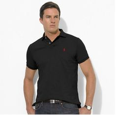 Men's Ralph Lauren Black Polo Sizes S,M MSRP $85.00