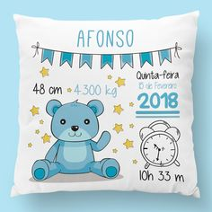 Pillow Crafts, Diy Cushion, Sweet Box, Diy Mugs, Baby Presents, Unique Baby Gifts, Personalized Baby Blankets, Baby Pillows, Embroidery Files