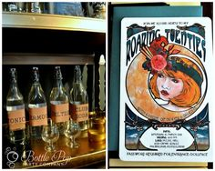 ¡Me encanta la invitación a esta fiesta años 20! Y la barra de cócteles... / I love this invitation for a 1920s party! And the cocktail bar...
