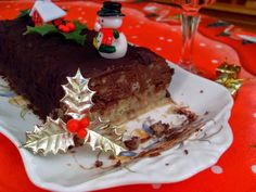 Ma Cuisine Végétalienne: Bûche de Noël, chocolat châtaigne (Vegan)