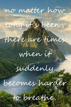 No matter how long it's been, there are times when it suddenly becomes harder to…