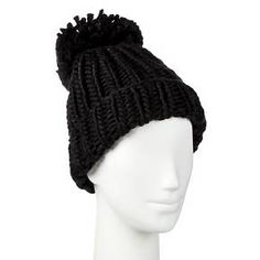 Women's Chunky Beanie with Pom - Mossimo Supply Co.™ : Target