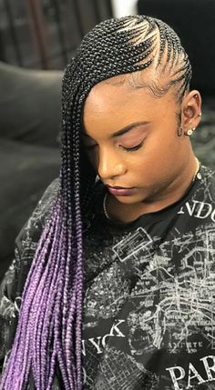 43 Awesome Side Braid Hairstyles Ideas For Long Hair # side Braids with extensions # side Braids with extensions # fulani Braids no extensions Box Braids Hairstyles, Lemonade Braids Hairstyles, Protective Hairstyles, Protective Styles, School Hairstyles, Formal Hairstyles, Amazing Hairstyles, Dreadlock Hairstyles, Hairstyles 2018