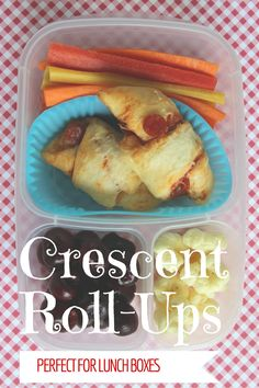 Crescent Roll-ups Four Ways -- These are EASY and great for snacks or lunch boxes