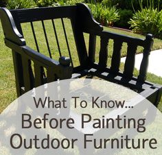 ❤What To Know Before Painting Outdoor Furniture