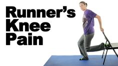 Runner's Knee Pain Exercises & Stretches - Ask Doctor Jo Rotator Cuff Exercises, Knee Pain Exercises, Balance Exercises, Runners Knee Pain, Stretching For Seniors, Physical Therapy Exercises, Senior Fitness, Therapy Activities, Physical Fitness