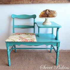 Check out this custom furniture piece! Find a coffee table, chair, and side table from the thrift store and create your own.