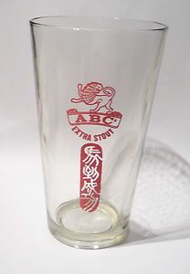 Chinese beer glass