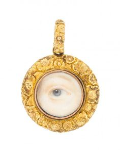 A Victorian Yellow Gold Lover's Eye Pendant, 6.35 dwts. : Lot 21