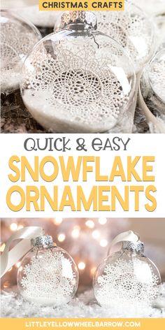 Cute DIY Snowflake Christmas Ornaments