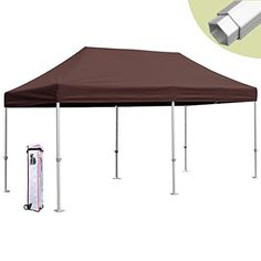 Eurmax PRO 10x20 Pop up Party Tent Instant Canopy Gazebo Shelter High Commercial Level Brown * You can get more details by clicking on the image.