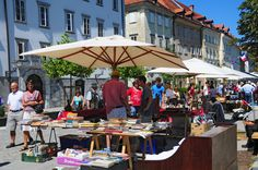 Antique Flea Market by Ljubljanica river. Every Sunday. You can buy almost anything. #slovenia