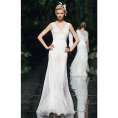 Brides.com: Pronovias - Spring 2013. Gown by Pronovias  See more Pronovias wedding dresses in our gallery.