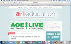 3 Ways to Use Memes in the Art Room - The Art of Education University Youtube News, Middle Schoolers, Gifs, University, Education, Memes, Room, Art, Bedroom
