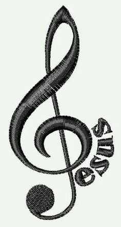 Jesus Musical Note embroidery design - I used to have a key chain like this. Music Is Life, My Music, Music Happy, Embroidery Designs, Notes Design, Music Tattoos, Tatoos, Bone Tattoos, Music Decor