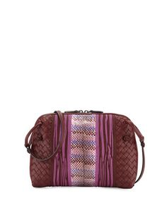 6528468ccc BOTTEGA VENETA Intrecciato Small Embroidered Crossbody Bag