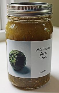 Easy Salsa Verde (Tomatillo Salsa) for canning substitute green tomatoes after your garden freezes