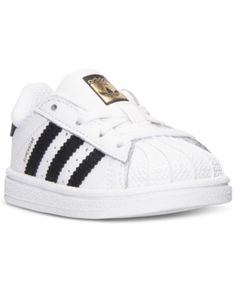 adidas Toddler Boys' Superstar Casual Sneakers from Finish Line - White