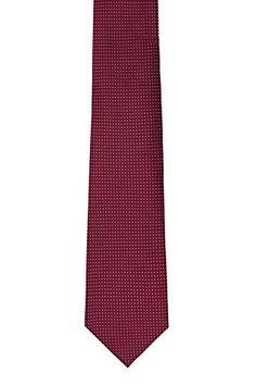 Silk Necktie - Black base with stripes in white and fuchsia Notch WerenxaG5p