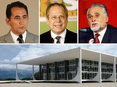 Réus do mensalão: o deputado João Paulo Cunha, o ex-ministro da Casa Civil José Dirceu e o ex-presidente do PT José Genoino