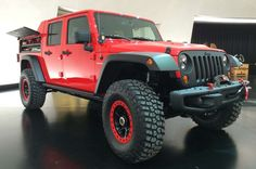 Jeep Wrangler Red Rock Responder Concept - Provided by MotorTrend Easter Jeep Safari, Jeep Concept, Bug Out Vehicle, Jeep Wrangler, Monster Trucks, Jeeps, Vehicles, Red, Swiss Army