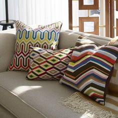 Décor & Pillows - Multi Diamonds Bargello Throw Pillow