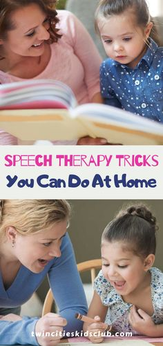 Twin Cities Kids Club Blogs: Speech Therapy Tricks You Can Do At Home- Speech therapy at home would be great if you could get your kid to sit down with you and work on it! Children with speech and language problems typically don't want to sit down and work on it because it's so difficult for them. | Kids | Kids Activities | Kids Crafts | Parents | Parenting | Parenting Tips Activities For 2 Year Olds, Indoor Activities, Infant Activities, Play Based Learning, Learning Through Play, Kids And Parenting, Parenting Hacks, Children Toys, Language Activities