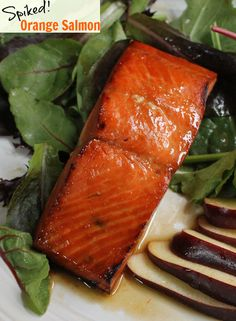 Whiskey Spiked Orange Glazed Salmon