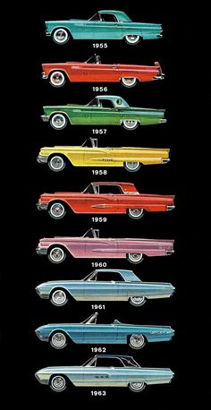 Ford Thunderbird models, 1955 -1963