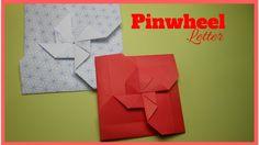 Easy Origami Handmade Pinwheel Envelope Letter