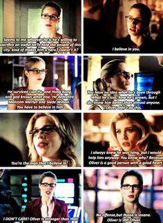 Felicity + her faith in Oliver #Olicity #Arrow