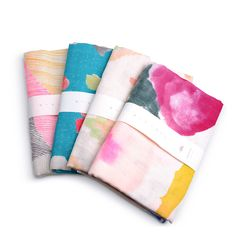 Watercolor Tea Towels from Furbish Studio