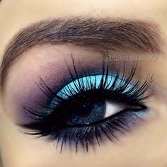 Blue and purple #eye #makeup #eyeshadow