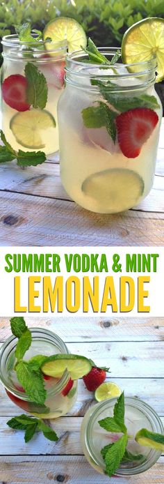 Refreshing summer vodka mint lemonade cocktail recipe, the perfect adult drinks for entertaining on those warm summer days! #summercocktails