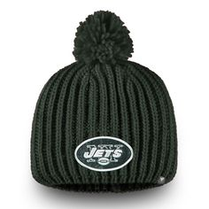 Women s New York Jets NFL Pro Line by Fanatics Branded Green Iconic Ace Knit  Beanie d41a5b9a0d