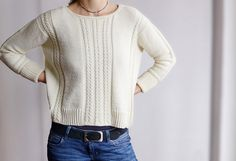 Ravelry: Tempolinse Lilian im Schnee * Test - Knit: Ravelry's project Beginner Knitting Patterns, Sweater Knitting Patterns, Knitting Designs, Hand Knitting, Summer Sweaters, Casual Sweaters, Sweaters For Women, Pulls, Knitwear