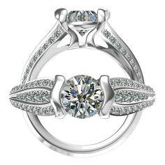 Harout R three-row diamond engagement ring