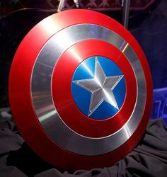 Captain Americas Shield by ohhshiney on Etsy, $200.00.