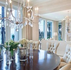 AMAZING CONTEMPORARY DINING ROOM   Amazing in white and wood   bocadolobo.com/ #diningroomdecorideas #moderndiningrooms
