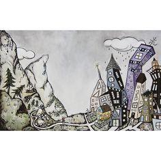 Jill Bergman/lino & watercolor