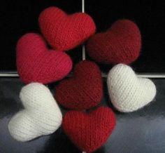 corações de malha