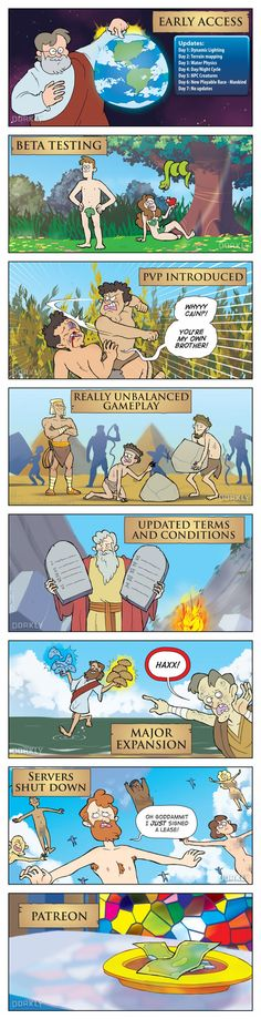 """""""How the Bible Would Work as a Video Game"""" #dorkly #geek #bible"""